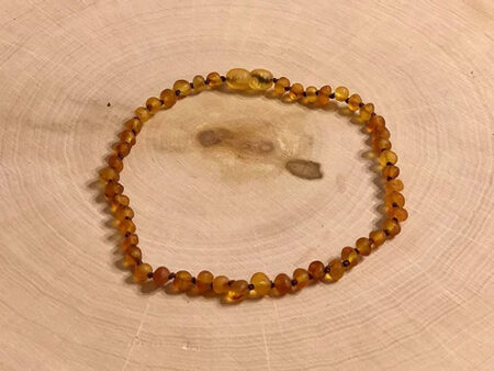 11 inch Raw Honey Baltic Amber Necklace - RootsToRemedies.com