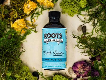 """""""Break Down"""" Digestive Bitters Herbal Tincture - RootsToRemedies.com"""