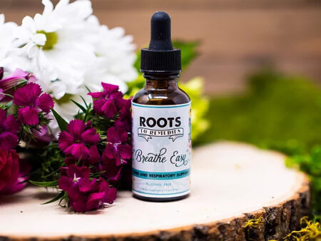 """""""Breathe Easy"""" Lung Health Respiratory Support Herbal Extract - RootsToRemedies.com"""