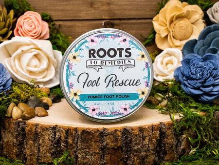 Foot Rescue Foot Scrub - RootsToRemedies.com