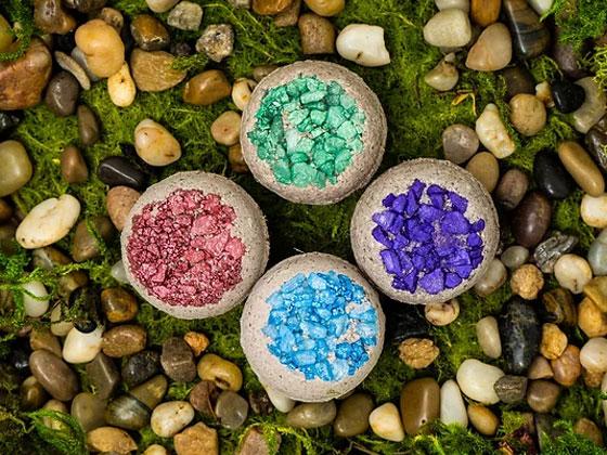 Gemstone Geode Herbal Bath Bombs - RootsToRemedies.com