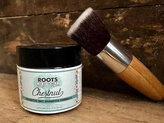 Herbal Dry Shampoo With Flat Brush - RootsToRemedies.com