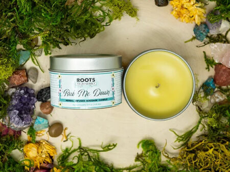 """""""Rub Me Down"""" Herbal Infused Massage Candle - RootsToRemedies.com"""