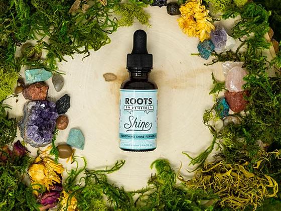 """Shine"" Soothing Shine Herbal Infused Hair Oil - RootsToRemedies.com"