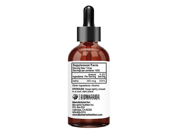 Thyroid Warrior Nascent Iodine label - RootsToRemedies.com