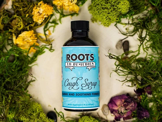 Wild Cherry Bark Calming and Soothing Herbal Cough Syrup - RootsToRemedies.com
